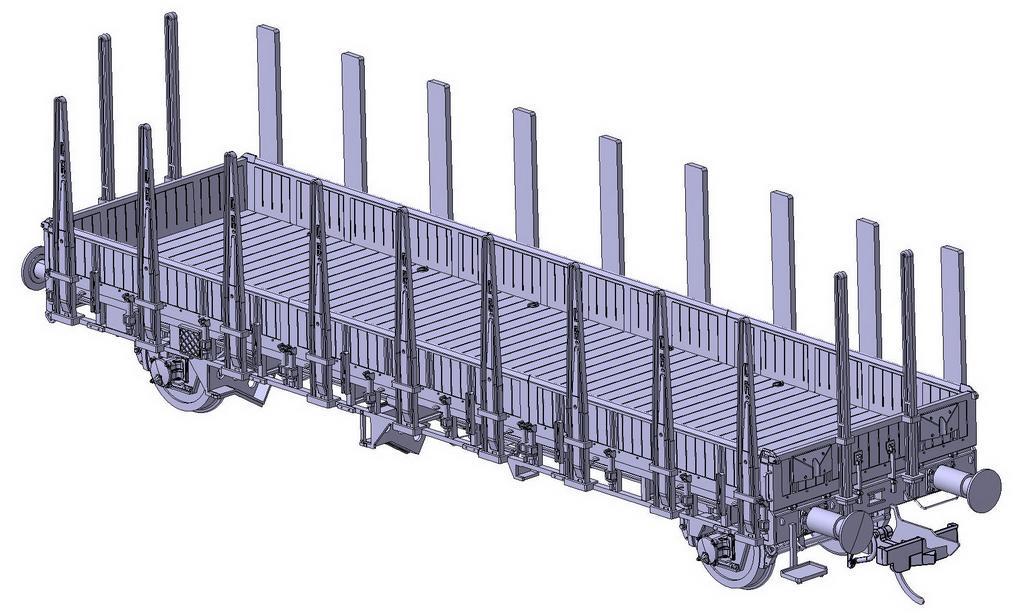 Schnellenkamp Rmms 33 mit Holzwänden. Vorne Stahl- hinten Holzrungen.