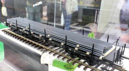 Schinenprofile auf Schienenwagen