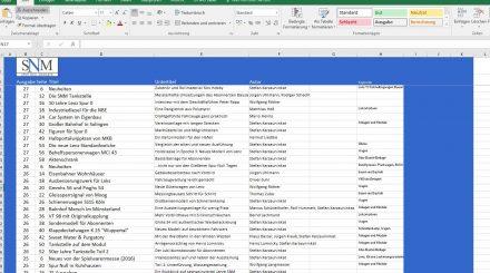 SNM Inhaltsverzeichnis zum Download
