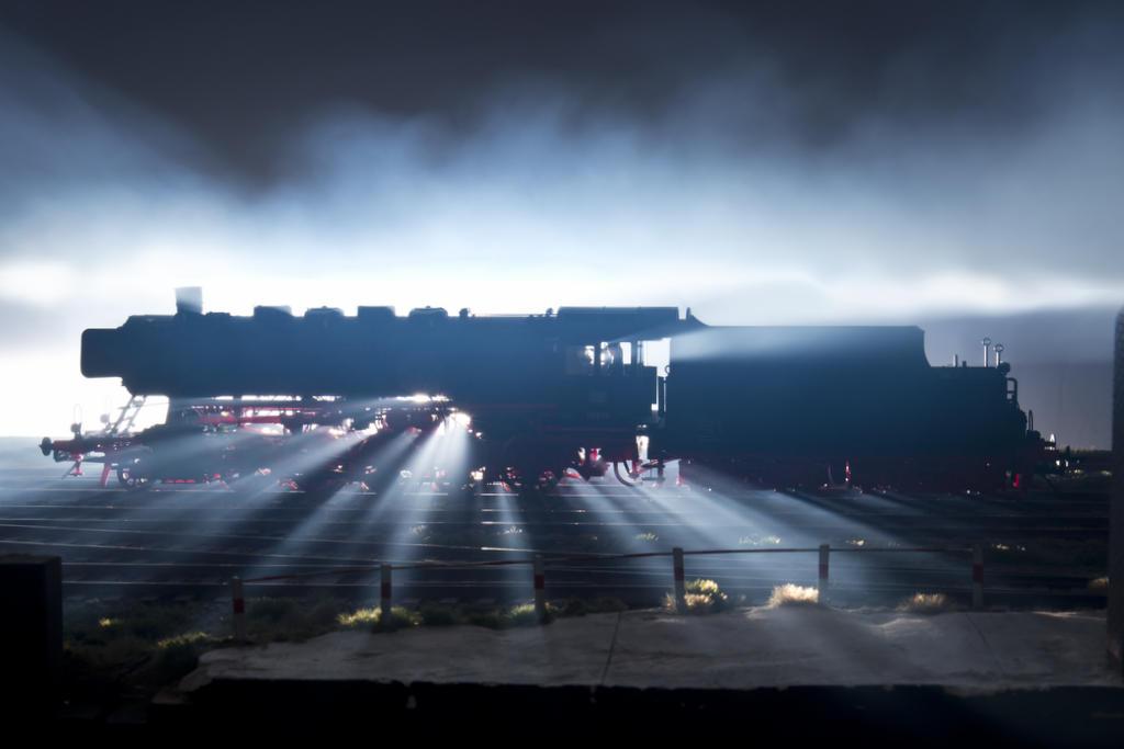 Foto mit Rauch und Dampf