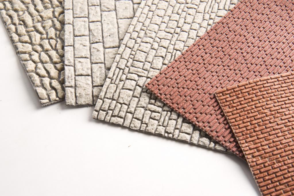 Plastische Oberfläche der Vollmer Mauerplatten im Detail