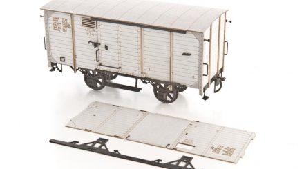 0 Scale Güterwagen Kartonbausatz