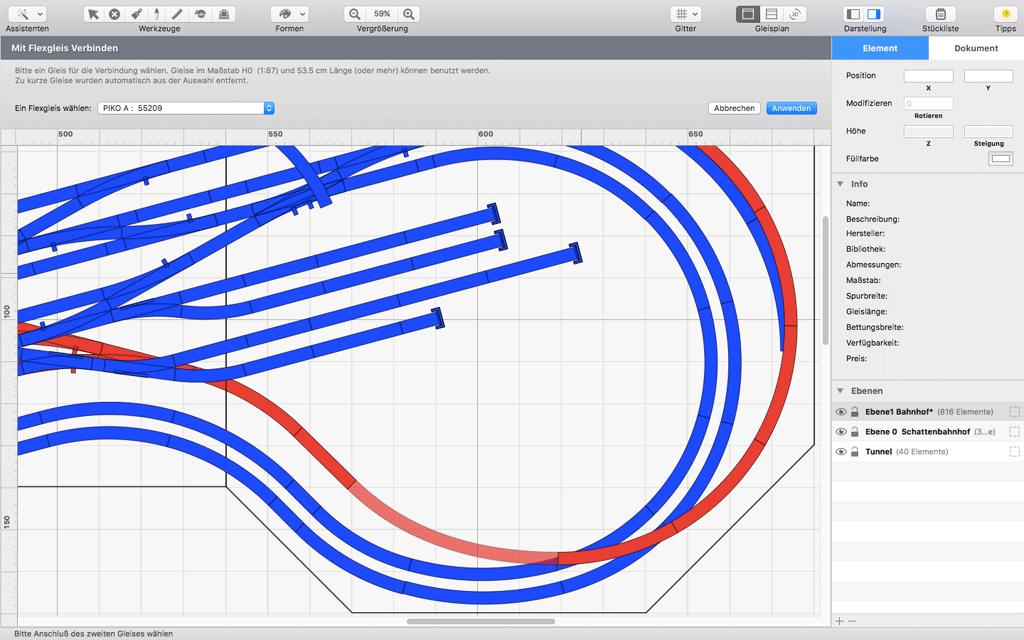 RailModeller Flexgleise planen