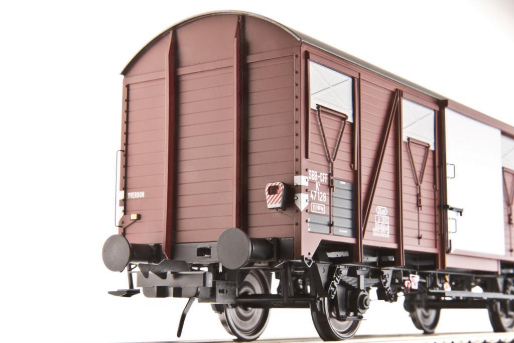 Güterwagen K4 mit einsteckbarer Zugschlusslaterne