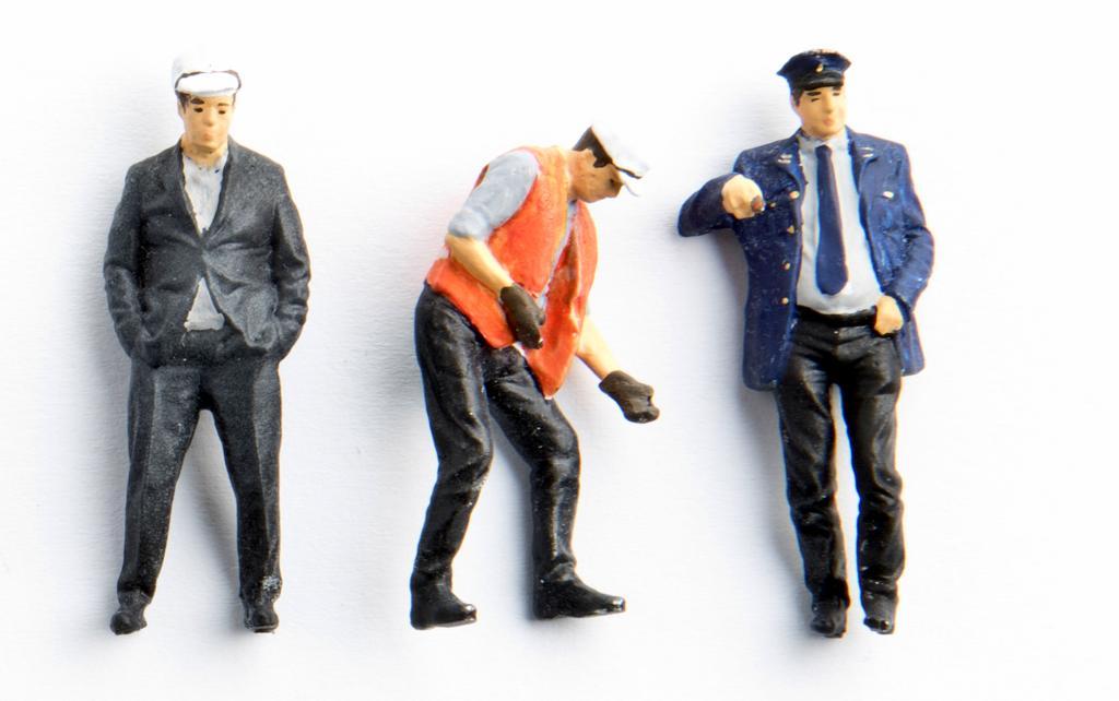 Hauser Figuren Bahnbedienstete