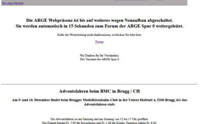 Homepage Arge Spur Null