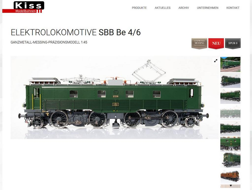 Kiss Elektrolokomotive SBB Be 4/6