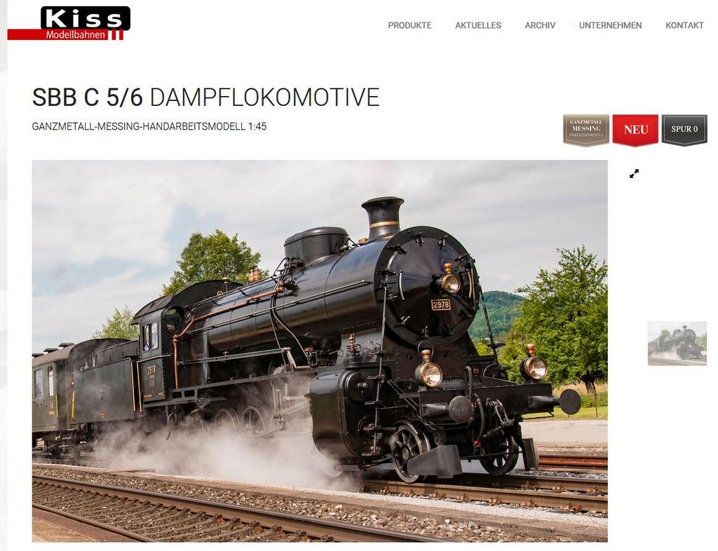 Kiss Dampflolomotive SBB C 5/6
