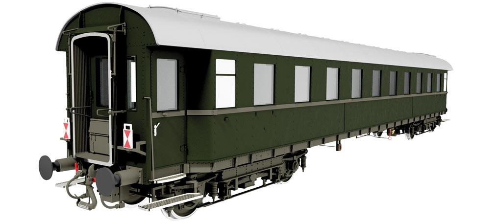 Lenz Schnellzugwagen 2. Klasse B4üe 28