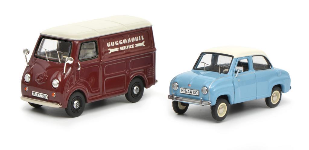 Set Goggomobil, Goggo Limousine und Goggo Kleintransporter