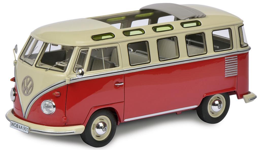 VW T1b Samba, rot-beige