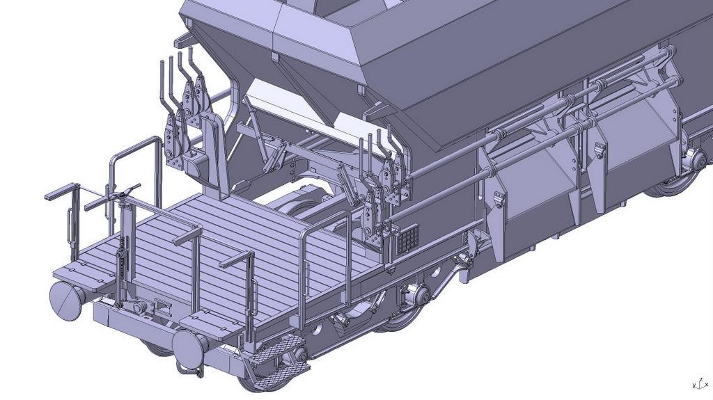 Schotterwagen 266 Bedienerbühne