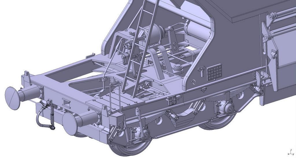 Schotterwagen 266 Aufstieg