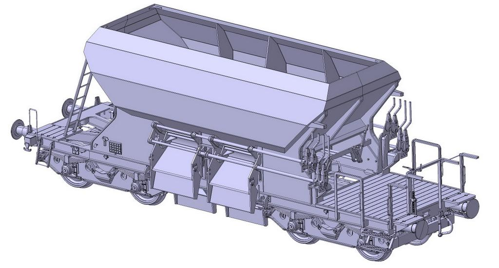 Schotterwagen 266 Bauform 1960