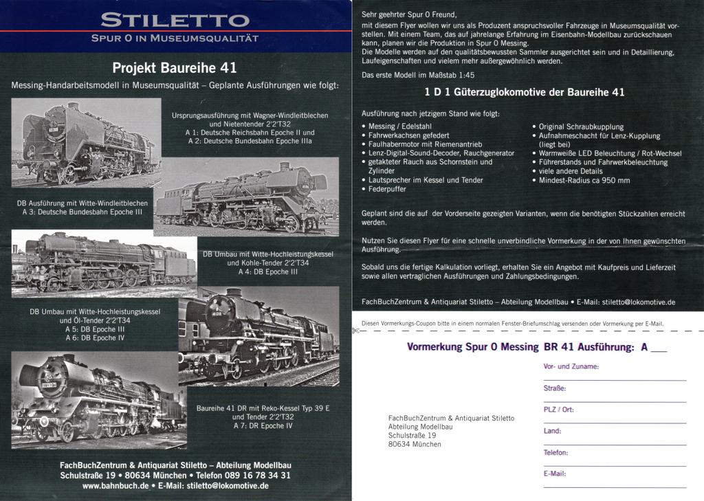 Stiletto Flyer zur BR 41