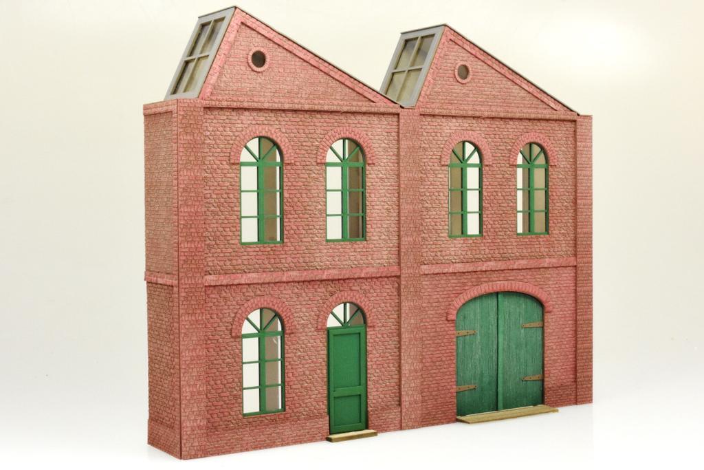 te miniatur Fabrik zweistöckig, 2 Module