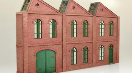 te miniatur Fabrik 3 Module zweistöckig