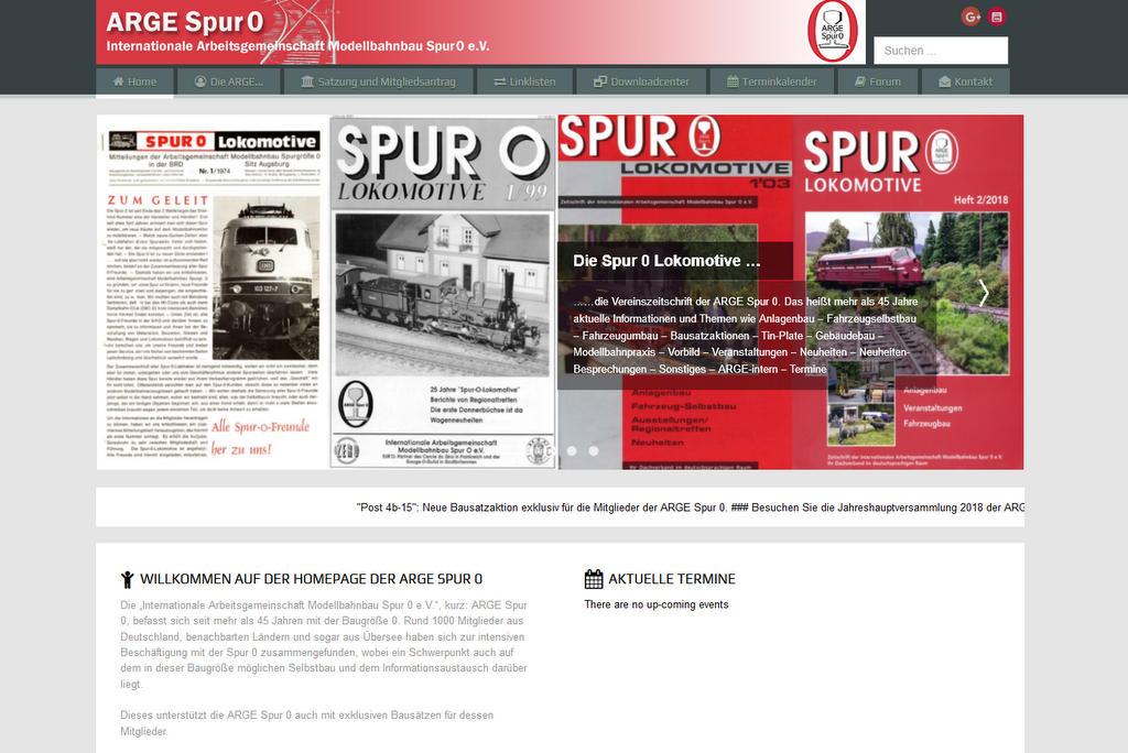 Neue Homepage Arge Spur Null