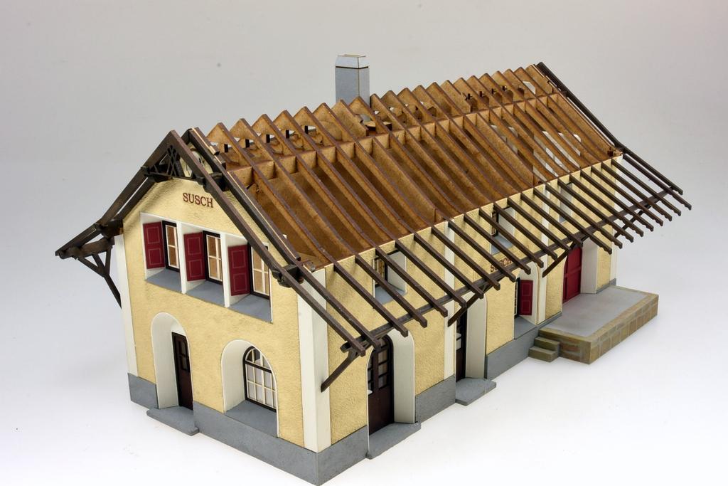 Bahnhof Susch Dachkonstruktion