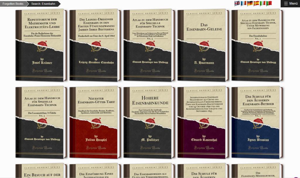 Forgotten Books: Eisenbahn