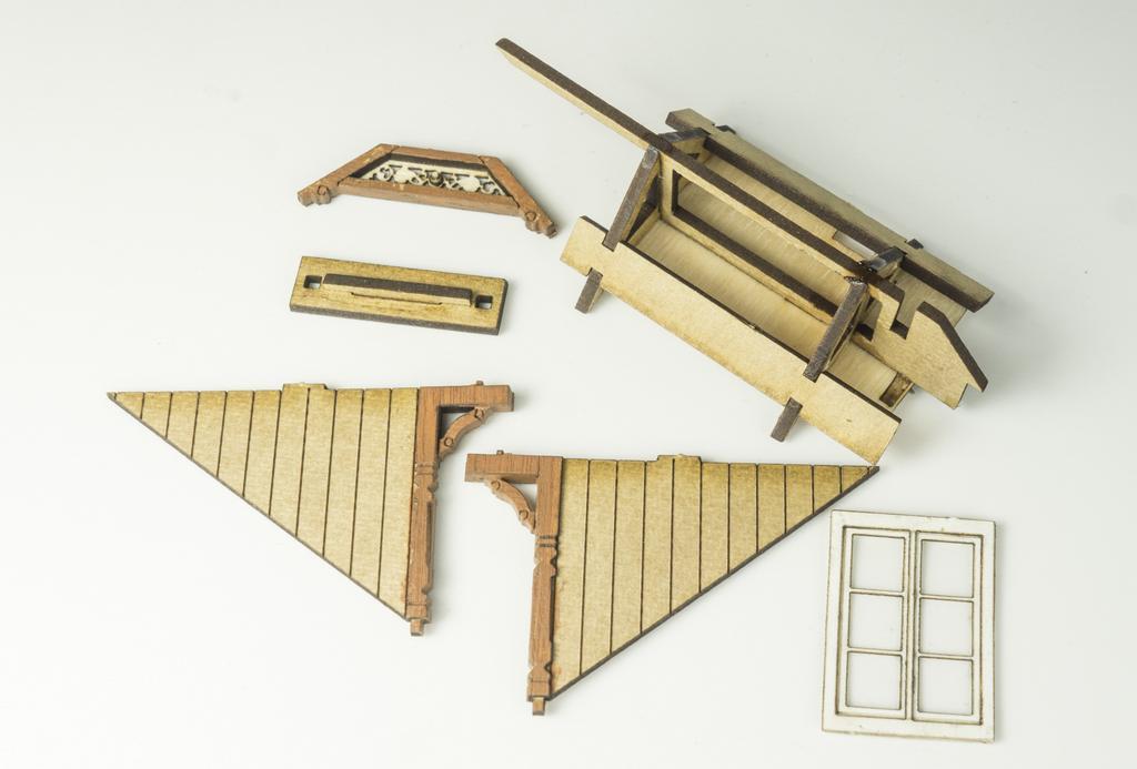 Jaffa Dachgaube Teile des Bausatzes