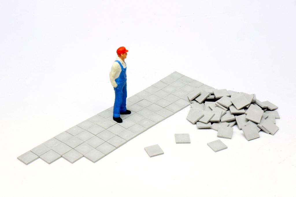 Gehweg Betonplatten