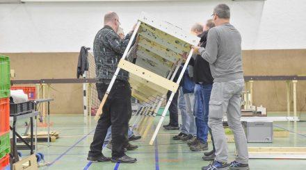 Organisation eines Betriebstreffens - Aufbau. Fotos: Jens Frommann