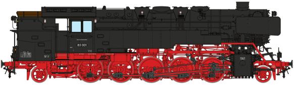 Zeichnung der BR 85 von Steiner Modellwerke