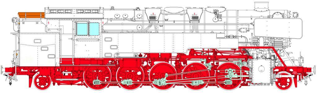 Konstruktionszeichnung der BR 85