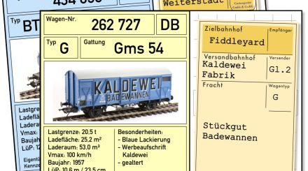 Wagenkarten mit Frachtkarten