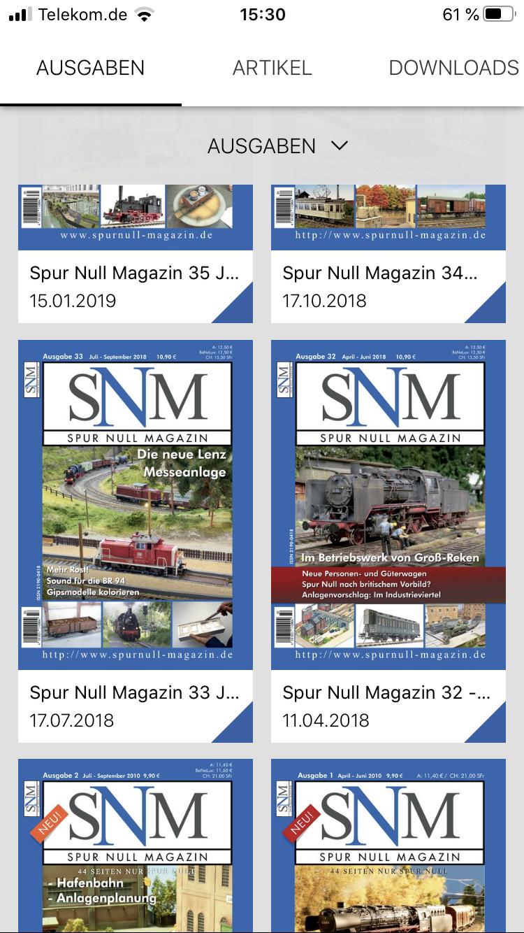 SNM App in der Entwicklung