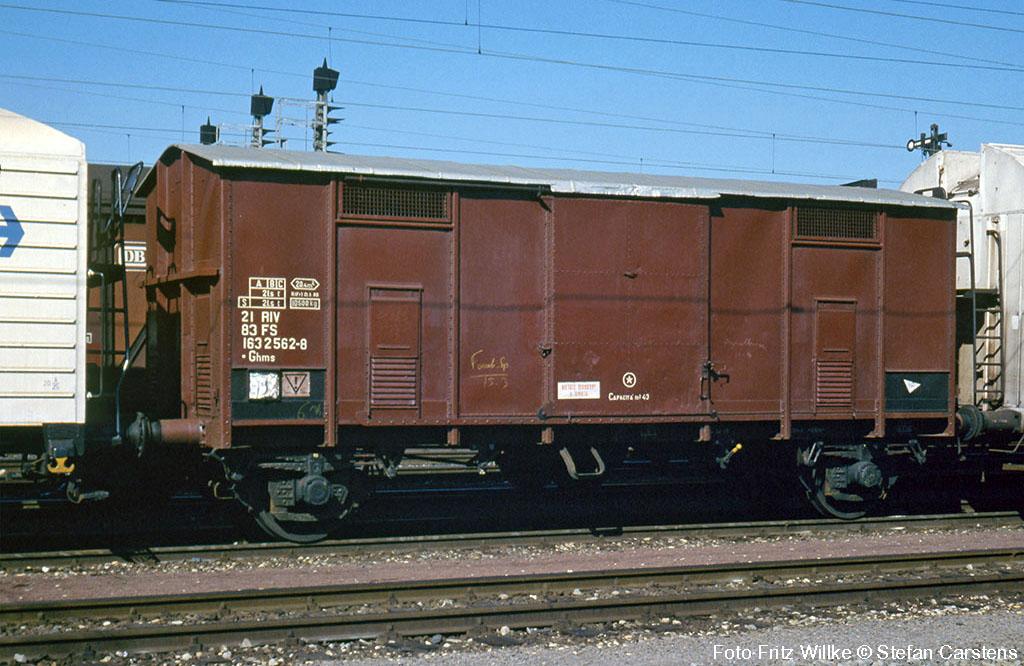 Spitzdachwagen Ghms der Italienischen Staatsbahn