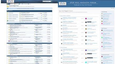 Neues SNM Forum (rechts) und altes im Vergleich