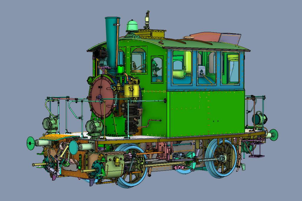 Konstruktionszeichnung BR98.3