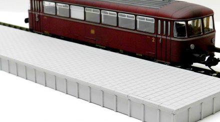 Zapf Bahnsteig aus Karton gelasert