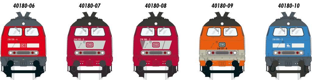 edition Modelle der BR 218 (Abb.: Lenz)