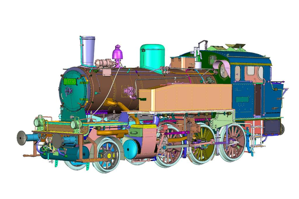 KM1 BR91 Konstruktionszeichnung