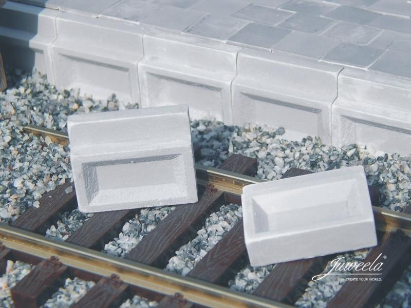 Juweela Bahnsteigkanten aus Beton